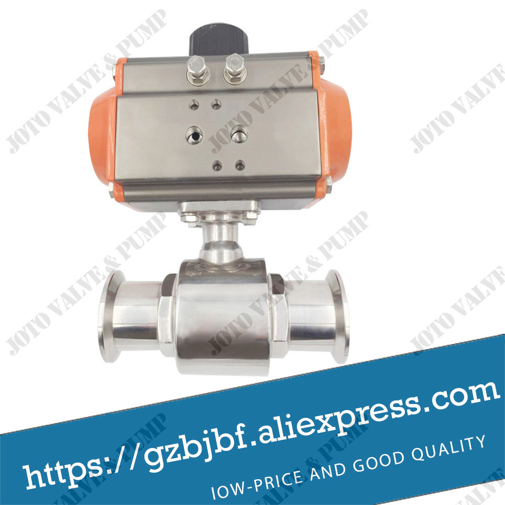 low price Factory Price DN32 Sanitary Pneumatic Quick Ball Valve