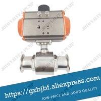low price Factory Price DN32 Sanitary Pneumatic Quick Ball Valve