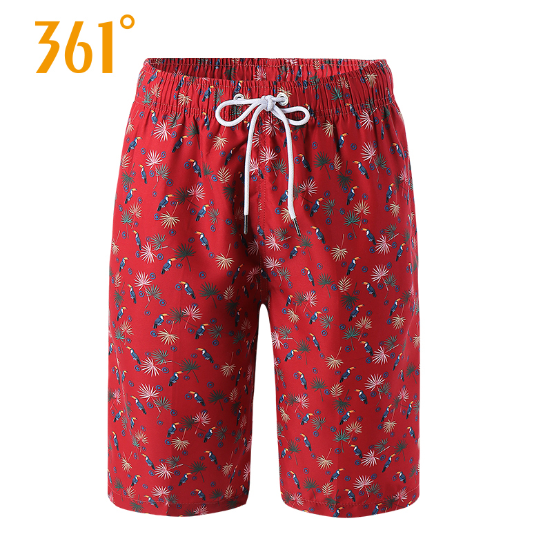 361 Mens Beach Shorts Quick Dry Sport Casual Board Loose Boxer Swimming Trunks Pool Hot Spring for Vocation