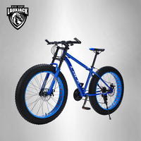 LACK Mountain Bike FatBike Steel Frame 24 Speed Shimano Disc Brakes 26 X4 0 Wheels Long