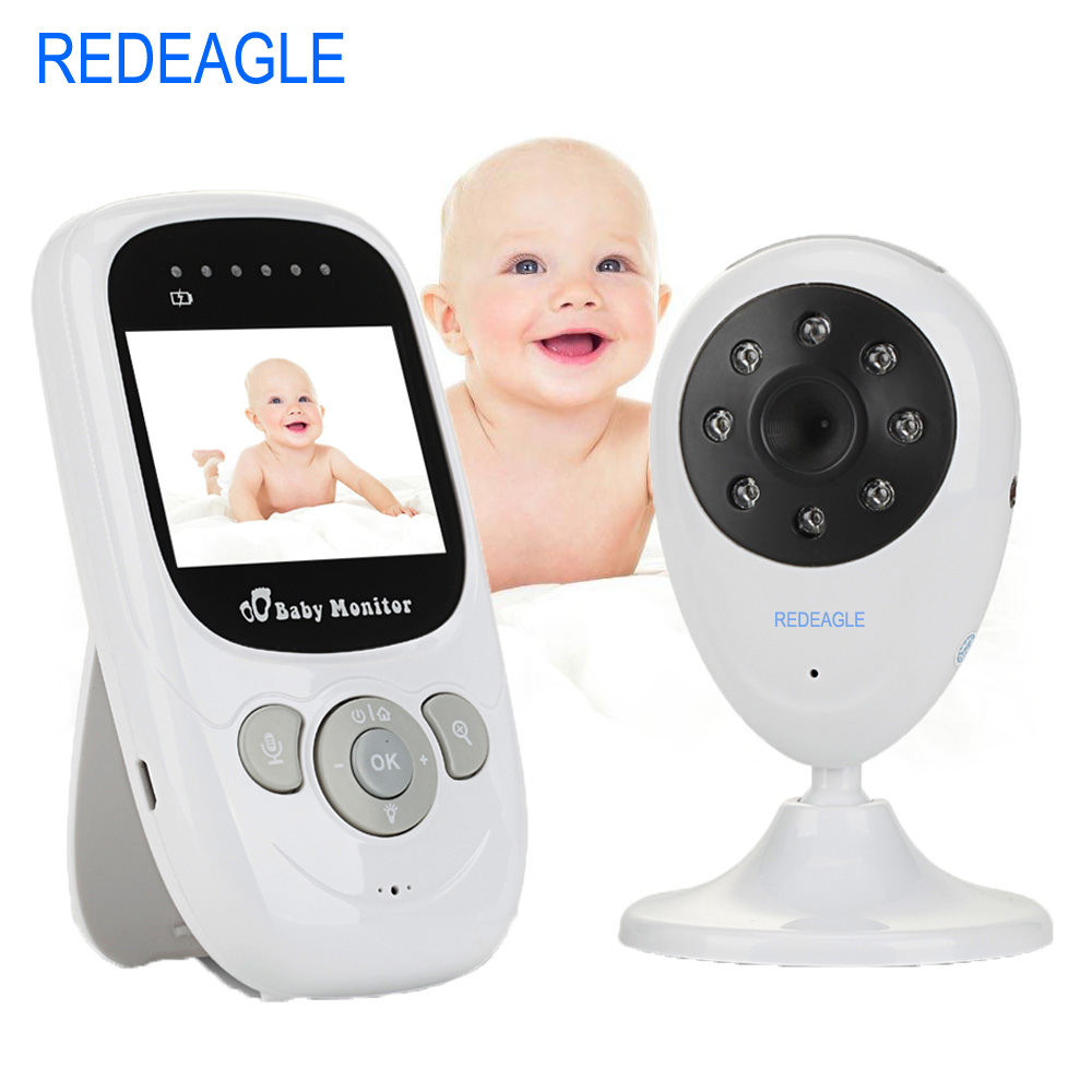 REDEAGLE 2 4G Wireless Baby Sleep Monitor 2 WayTalk Nanny Night Vision Security Camera Temperature Display