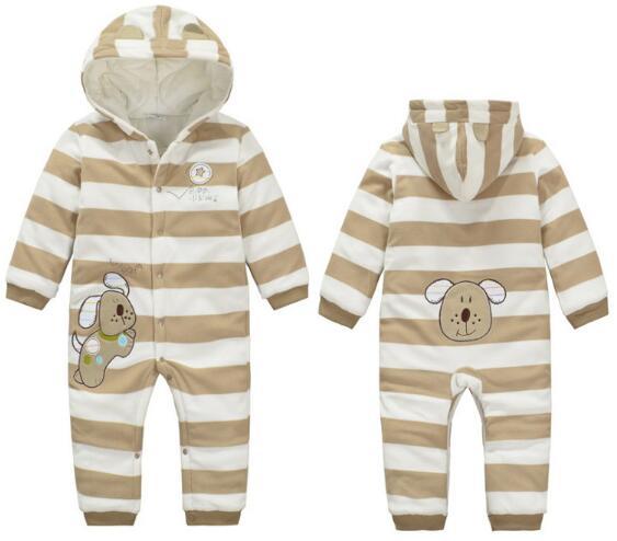 ny 2017autumn vinter baby romper babyprodukter nyfödda randiga - Babykläder