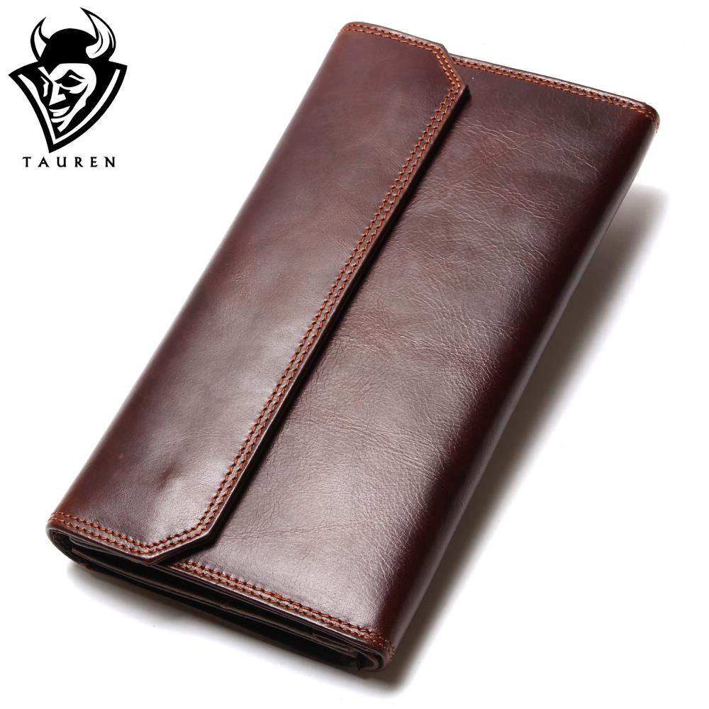 ФОТО High Quality Brand Vintage Designer 100% Genuine Cowhide Oil Wax Leather Men Long Wallet Wallets Purse Clutches Male Carteira