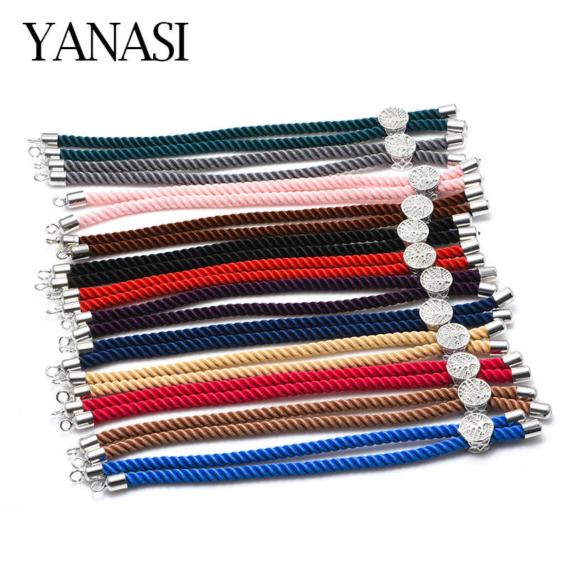 4 Pieces Wholesale 12 Colors Black Red String Woven Rope Macrame Cord Chain Adjustable Chains For Making Bracelets