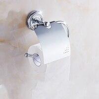 Antique Polished Silver Toilet Paper Holder Chrome Brass Roll Paper Holder bathroom paper toilet holder Bathroom Accessories wd1
