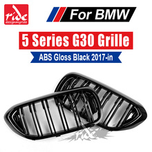 For BMW G30 M5-Style High-Quality ABS Plastic Gloss Black Dual Slat Front Kidney Grille Car styling 5-Series 520i 530i 535 2017+