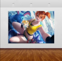 Home Decor Canvas Pokemon Game 1 Piece Anima'ti'o'n Sexy Girl Art Poster Prints Picture Wall Decoration Painting Wholesale 2