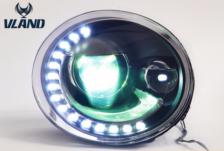Free Shipping Vland Factory Car Accessories for Volkswagen Bettle Headlight 2013 2014 2015 2016 Plug and Play Design dhl free shipping mitchell 2015 car repair software fits car from 1984 to 2015 work for any computer and no limited to use