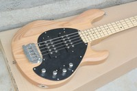 Free Shipping Nature Ash Wood Body Maple Fretboard Music Man Sting Ray 5 String Bass Electric Guitar active pickup 7 7