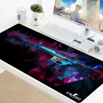 Коврик для мыши CS GO Дизайнер Коврик для мыши, скорость коврик Grande резиновая клавиатура Игровой большой XL геймер CSGO Черный 700 х 300 мм для порта...