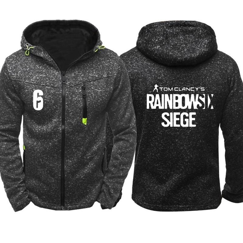 Rainbow Six Siege Sweatshirt Hoodies Men Hoody Spring Autumn Fleece Wram Zipper Jacket Hoodie Hip Hop Harajuku Male Clothing