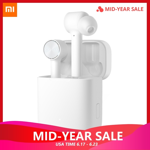 Original Xiaomi Wireless Earphone Air Bluetooth TWS True Active Noise Cancelling Smart Touch Bilateral Call Music HD ear phone