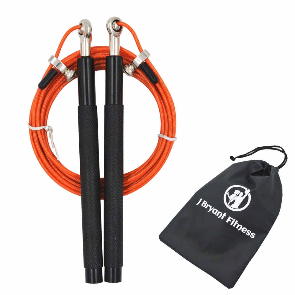 J Bryant Fitness Jump Rope Premium Quality Adjustable Best Speed rope for Double Unders MMA Boxing Skipping Exercise Training procircle speed jump rope adjustable 10ft skipping ropes best for fitness boxing mma training metal ball bearings black
