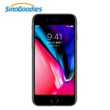 Мобильный телефон Apple iphone 8, 4,7 дюймов, 64 Гб ПЗУ, 2 Гб ОЗУ, шестиядерный процессор, 12 МП, 1821 мАч, iOS LTE, отпечаток пальца