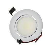 Супер качество круглый вел пятна 6 Вт регулируемый угол встраиваемые потолочный светильник 110 В 230 В для главная/офисного освещения