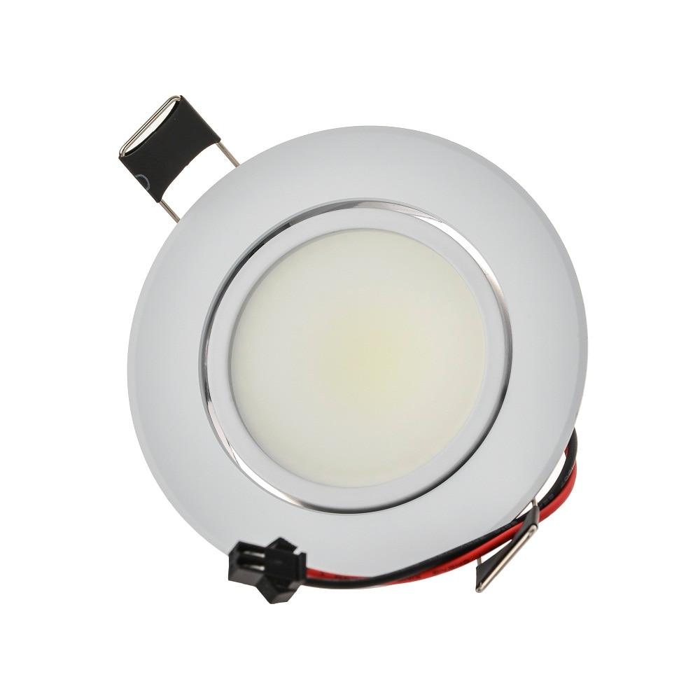 Lámpara de punto LED de mazorca redonda de gran calidad 6 W ángulo ajustable empotrado de techo 110 V 230 V para iluminación de hogar/Oficina