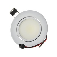 Super Quality Round COB LED Spot Lamp 6W Adjustable Angle Recessed Ceiling Downlight 110V 230V for Home/Office Lighting