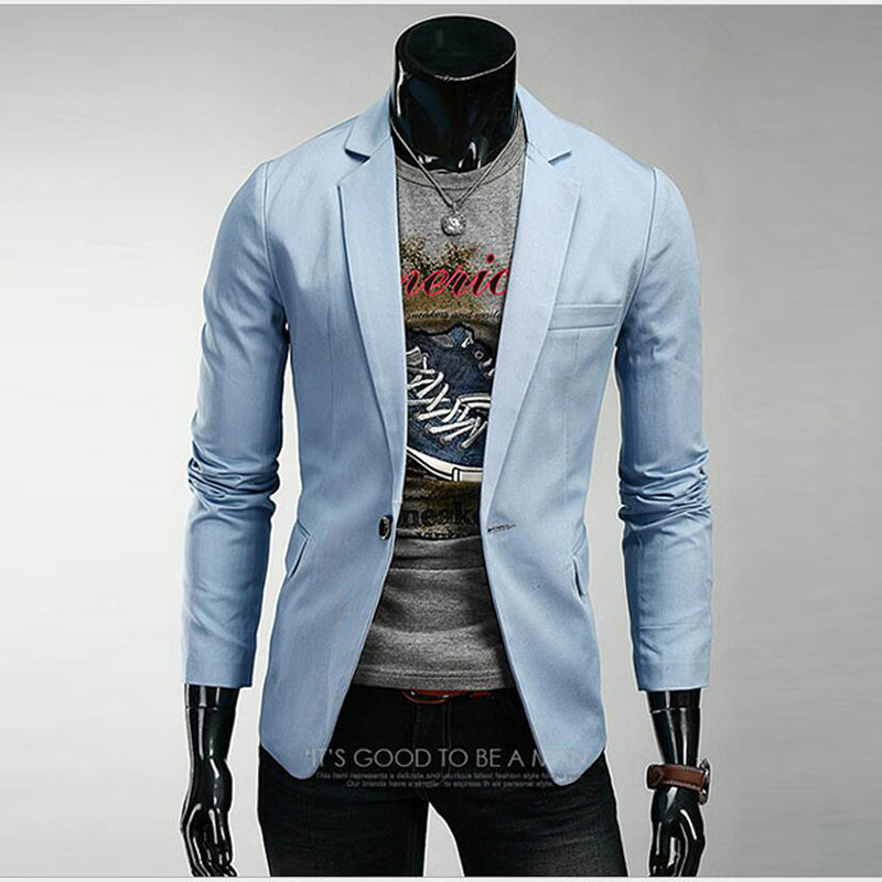 Men's Business Blazer One Button Spring Jackets Male Suit Slim Fit Suit Masculino Outwear Dress Coats New Fashion