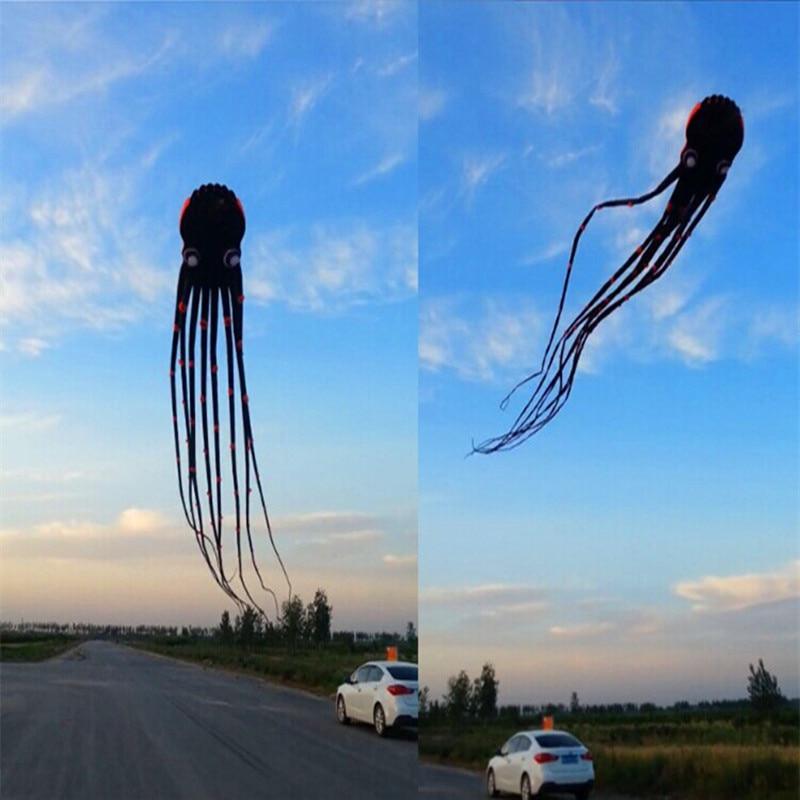безкоштовна доставка високоякісний м'який кайт чорний paul octopus кайт ripstop нейлон кайт котушка ходити в небо weifang кайтборд альбатрос