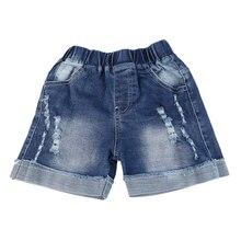 Летние Короткие джинсы с карманами для маленьких мальчиков детские штаны с вышитыми героями мультфильмов, джинсы для детей 3, 4, 5, 6, 7, 8 лет, детские шорты для мальчиков