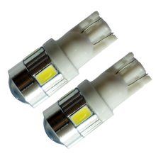 AORUNYEBAO 300Pcs T10 LED Wedge bulb Side Bulbs Tail lights Parking Dome Door lamp  12V T10 W5W 168 194 5630 5730 6SMD цена