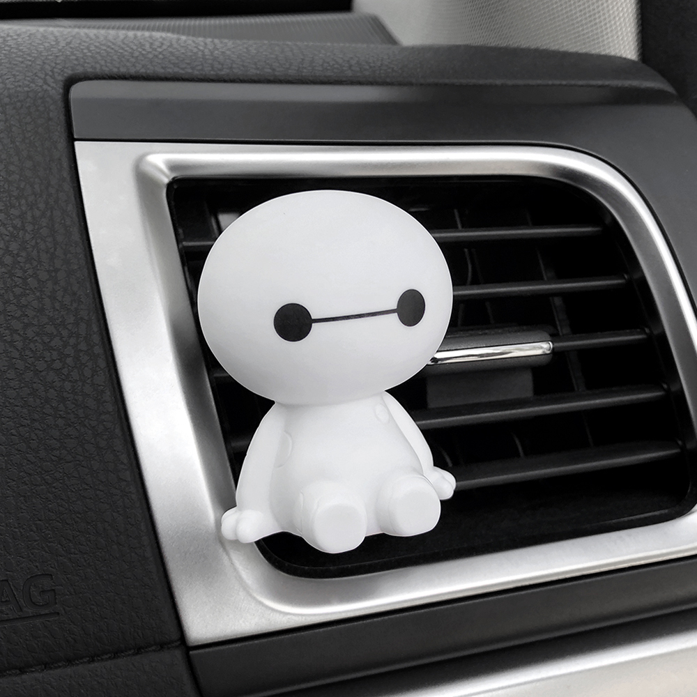 Car Air Freshener For Baymax Doll Cute Decoration Auto Interior Air Conditioning Vent Clip Perfume Fragrance Smell Diffuser Gift moonbiffy air force 2 creative car outlet vent clip air freshener perfume fragrance scent sweet smell aromatic cologne bouquet