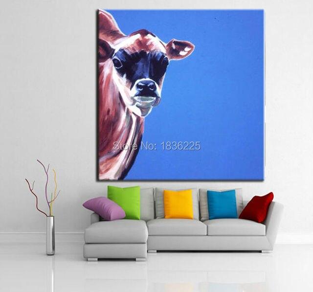 Decoración interior pintura al óleo vaca abstracta arte moderno ...