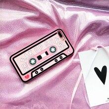 'Break до напев 'розовый кассеты чехол для iPhone 7 7 Plus 6S плюс 6 6S силиконовые Творческий девчушки Coque для Apple iPhone 6 plus