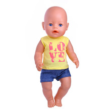 Reborn Doll Clothes  fit 43cm Baby Born zapf for American Girl Doll Children best Birthday Gift N450