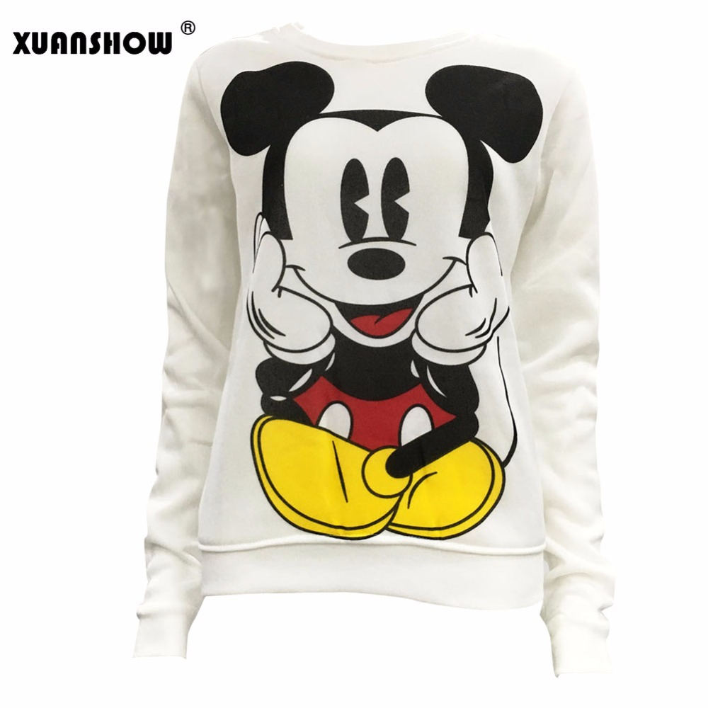 Xuanshow Women Sweatshirts Hoodies Character Printed Casual Pullover Cute Jumpers Top Long Sleeve O-neck Fleece Tops S-xxl #2