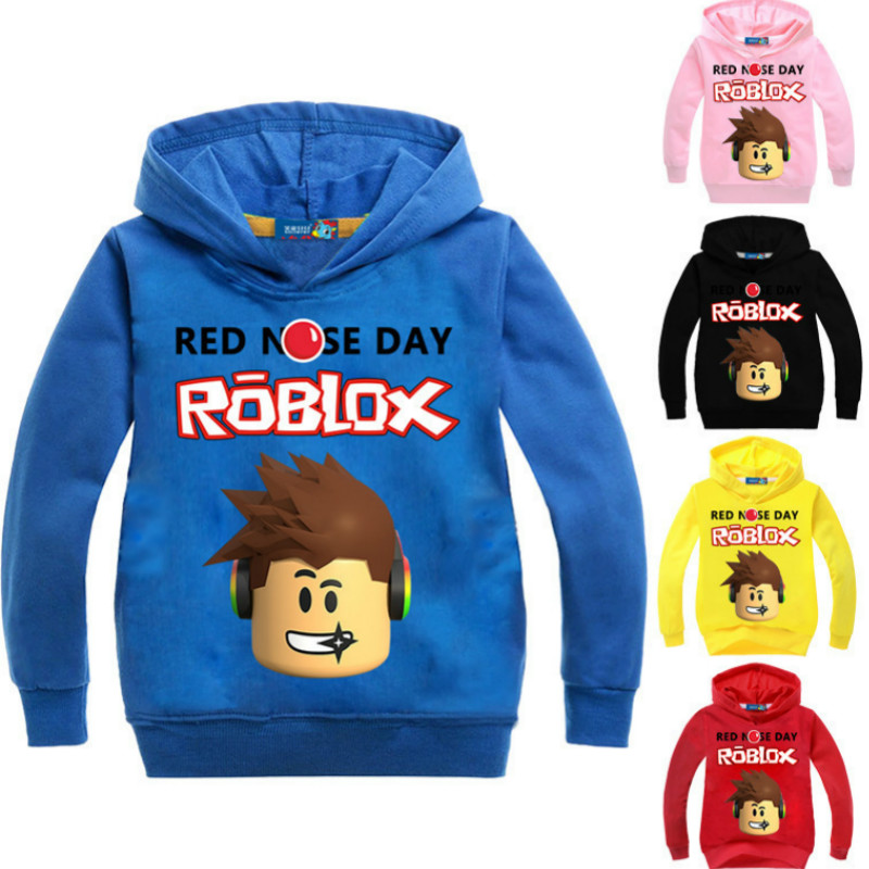 436afa06d8a0 Z Y 3 16Years Roblox Shirt Boys Hoodies Pullover Slim Fit Top Base ...