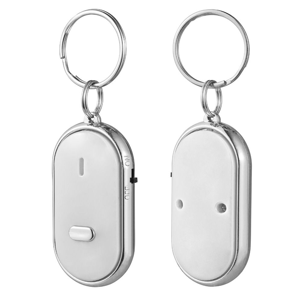 2pcs/lot Sound Control LED Whistle Key Finder Locator Find Lost Keys Key Chain Lost Car Key Finder white black red without Blue the black keys the black keys el camino 2 lp