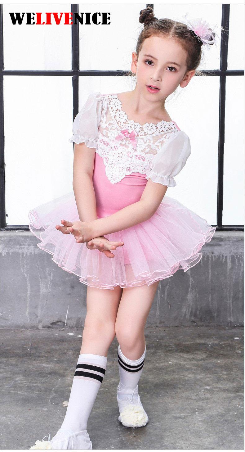 2017 Dívčí baletní šaty Dívčí taneční oděvy Dětský balet Tutu kostýmy pro dívky Dance Leotard Girl Dancewear pro děti # 7211