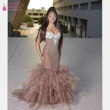TANYA BRIDAL Mermaid Prom Dresses Floor-Length
