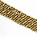Романтический золото гематит камень 2*4 мм 4*6 мм 5*8 мм 6*10 мм abacus граненые бусины свободные изготовления высококачественной Ювелирные Изделия B207