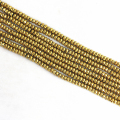 Romantic gold hematite stone 2*4mm 4*6mm 5*8mm 6*10mm abacus faceted beads loose making high grade Jewelry B207
