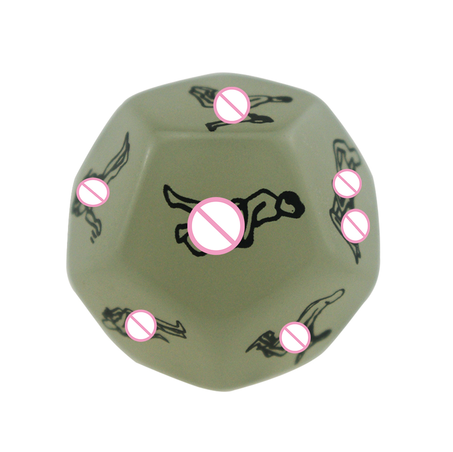 1 pcs 12 Sides love posture adult dice fetish sextoys Sexy Romance Erotic Craps Dice Toy Sex products Adult Games cubes