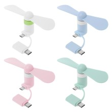 2 in 1 Typ C Micro USB Mini Fan Kühler Gadgets Cool Für Samsung Xiaomi Huawei HTC Handy(China)