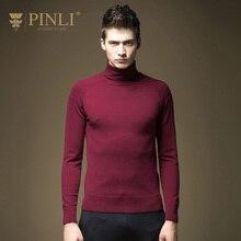 2017 Стандартный свитер Для мужчин Новое поступление limited пуловер Для мужчин свитер sudaderas PINLI Мужская зимняя водолазка сплошной Цвет B16321602