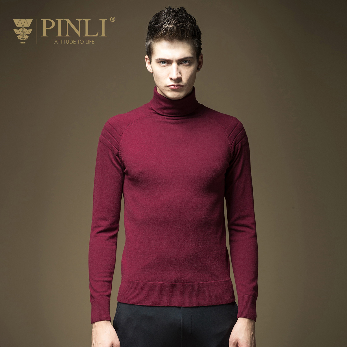2019 Cotton Long Mens Full Casual Men New Arrival Limited Pullover Sudaderas Pinli Male Winter Turtleneck Solid Color B16321602