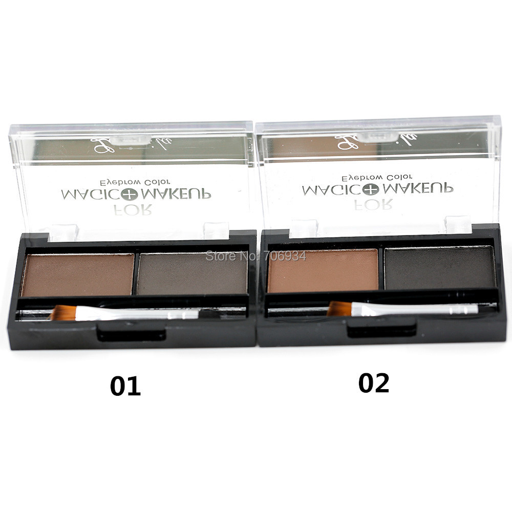 Eyebrow Powder Eye Brow Palette  With Brush 24 pcs/lot Full Size Net 5g 3012 k palette k palette 1day tattoo 24