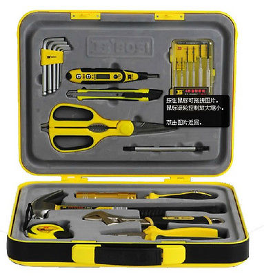 22pcs In ABS Box Portable Hardcover Repairing Tools Set Electron Tool Set|hardcover| |  - title=
