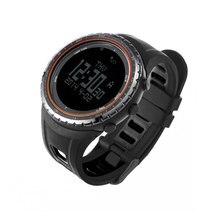 цена на SUNROAD Men's Digital Sport Watch-Waterproof Altimeter Barometer Compass Fishing Barometer Clock  Running Sport Watches Orange