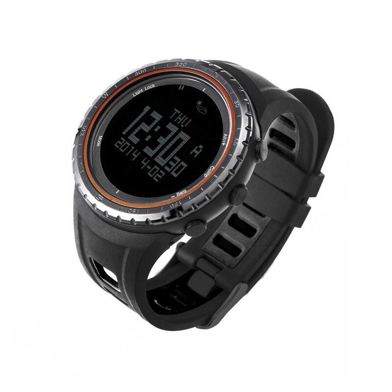 SUNROAD montre Sport numérique homme-altimètre étanche baromètre boussole pêche baromètre horloge course Sport montres Orange