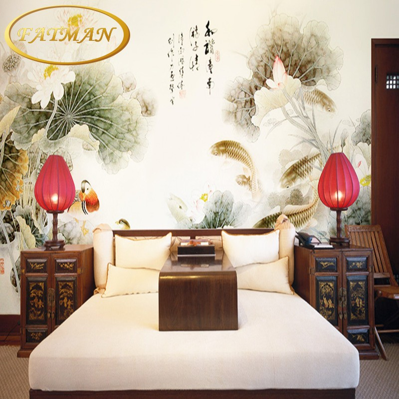 Photo wallpaper Chinese flower car wallpaper mural modern TV background mural wallpaper for living room