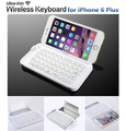 New Mini Foldable Bluetooth Keyboard Case,Rechargeable Ultra Thin Wireless Keyboard with Anti-break case&holder for iPhone6 Plus