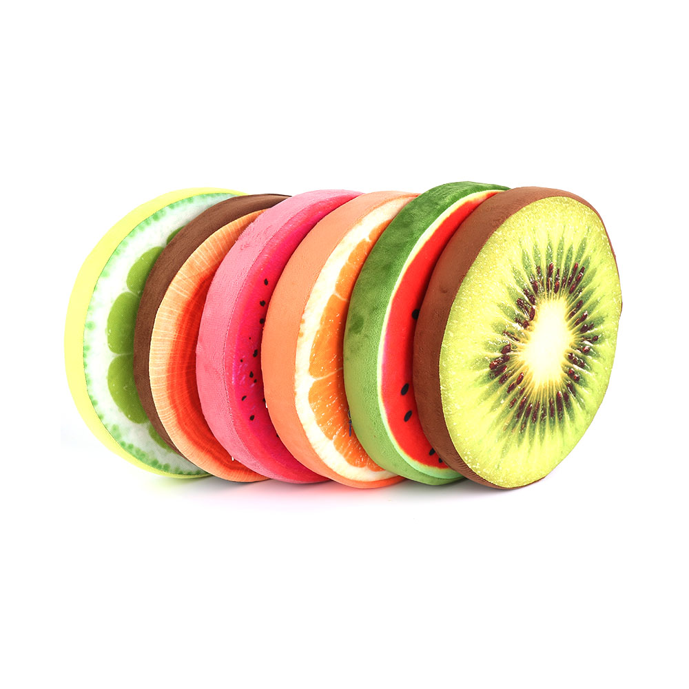 High quality Cute 3D Fruit Round Cushion Pillow Simulation Plush Fruit Pad Pillow For Chair Seat Sofa Floor Mat Gift ...