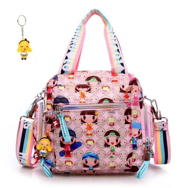 Bolso Kiplecartoon Harajuku doll handbag waterproof nylon cloth womens bags one shoulder cross-body womens handbag mother bag