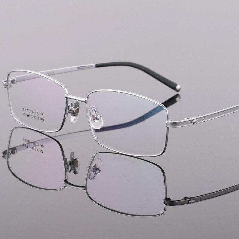 EOOUOOE 2018 Optique Glasse Pur Titane Cadre De Lunettes Oculos Lunettes Lunettes optik lunettes pour hommes cadre lunettes optique homme