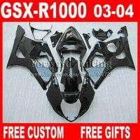 High quality Fairings for 2003 2004 SUZUKI GSXR1000 K3 fairing kits 03 04 GSXR 1000 GSXR 1000 glaring flat black powderblue WH74